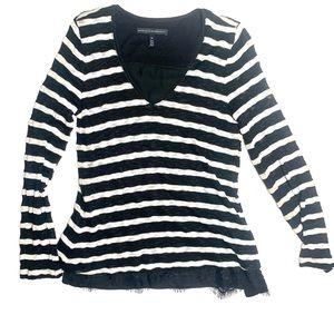 White House Black Market Striped Sweater/Blouse